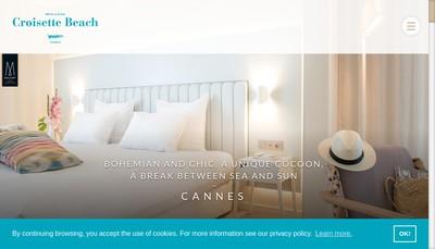 Site internet de Croisette Beach Hotel