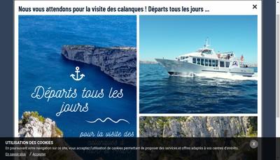Site internet de Croisieres Marseille Calanques