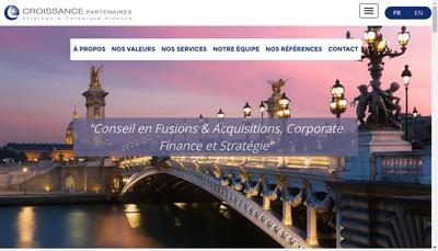 Site internet de Croissance Partenaires