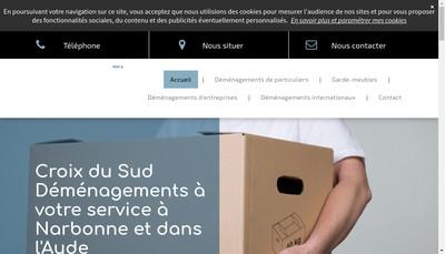 Site internet de Croix Sud Demenagements