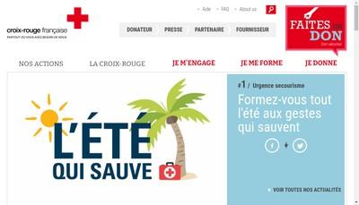 Site internet de Croix Rouge Insertion