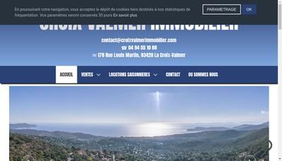 Site internet de Crois Valmer Immobilier