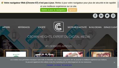 Site internet de Crown Heights