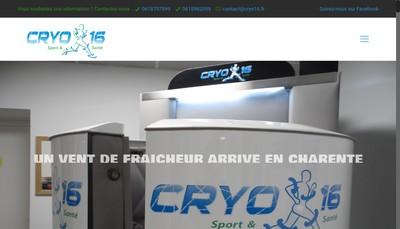 Site internet de Cryo 16 Sport et Sante