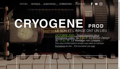 Site internet de Cryogene Prod