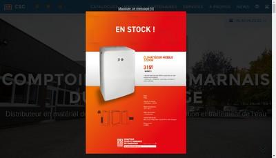 Site internet de Comptoir Seine-et-Marnais du Chauffage