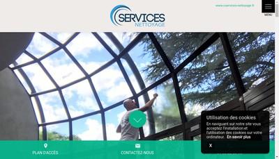 Site internet de C Services Nettoyage