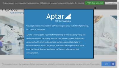 Site internet de Csp Technologies Europe