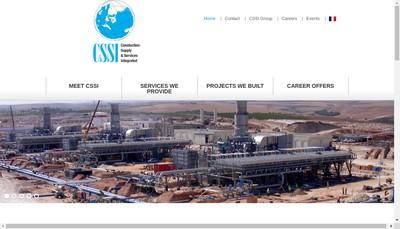Site internet de Construction Supply & Services Integrated Cssi