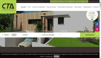 Site internet de Cta Constructions