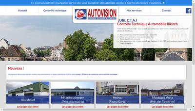 Site internet de Controle Technique Automobiles Illkirch