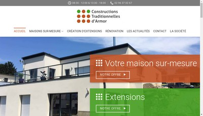 Site internet de Construction Traditionnelle d'Armor