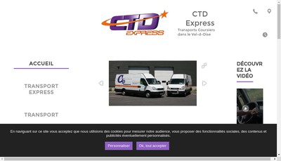 Site internet de CTD Express