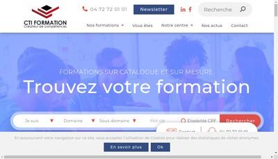 Site internet de Cti Formation