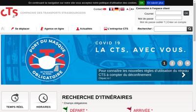 Site internet de Compagnie des Transports Strasbourgeois