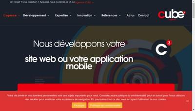 Site internet de Cube