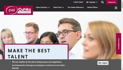 Site internet de Cubiks (France) SAS