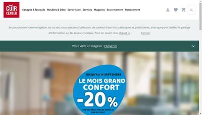 Site internet de Cuir Center