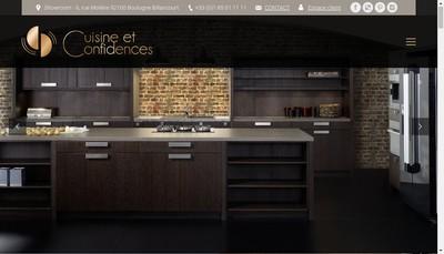 Site internet de Cuisine et Confidences