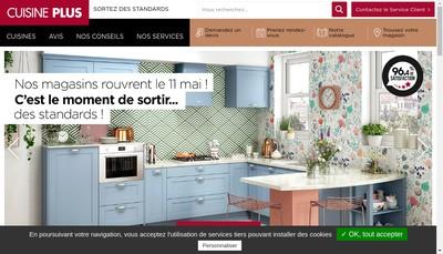 Site internet de Cuisines Plus