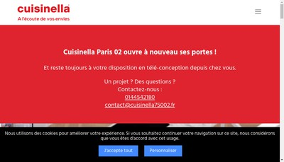 Site internet de Cuisinella