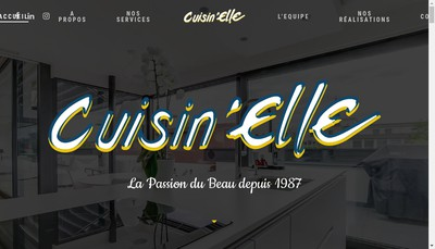 Site internet de Cuisin'Elle