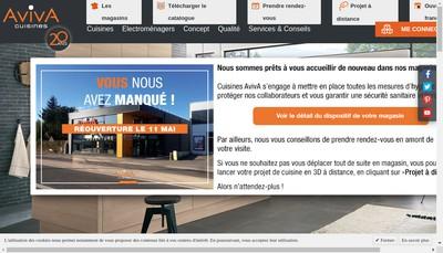 Site internet de Les Cuisines Aviva