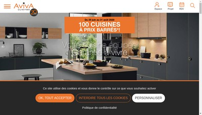 Site internet de Aviva Cuisines