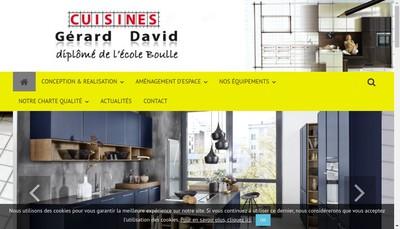 Site internet de Les Cuisines Gerard David