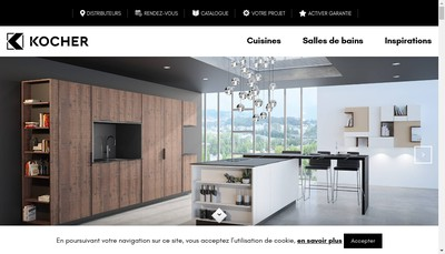 Site internet de Cuisines Kocher