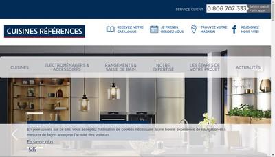 Site internet de Cuisines References