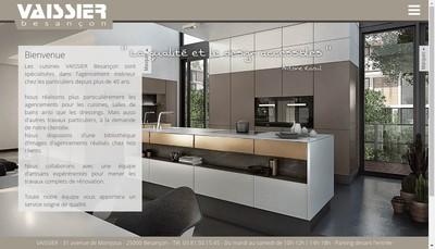 Site internet de Cuisines Vaissier