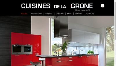 Site internet de Cuisines de la Grone