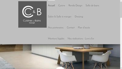 Site internet de SARL Cuisines et Bains Concept