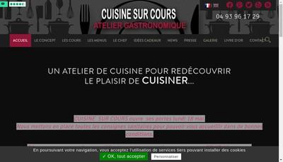 Site internet de Cuisine sur Cours