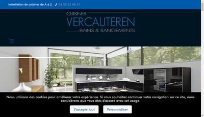 Site internet de Cuisines Vercauteren