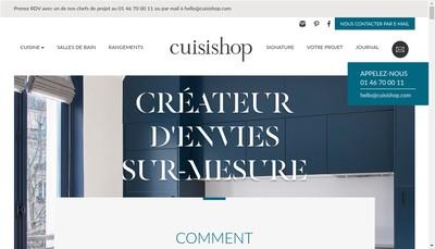 Site internet de Cuisishop