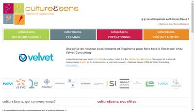 Site internet de Culture & Sens