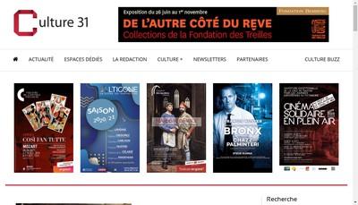 Site internet de Culture 31