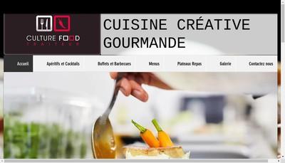 Site internet de Culture Food Traiteur