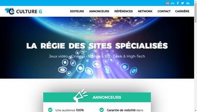Site internet de Culture G