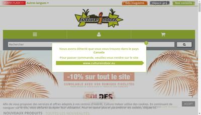Site internet de Culture Indoor