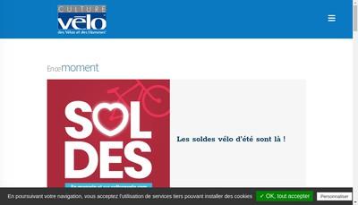 Site internet de Culture Velo