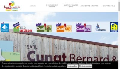 Site internet de Cunat Bernard et Fils SARL