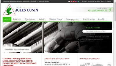 Site internet de Cunin SAS Contrexeville