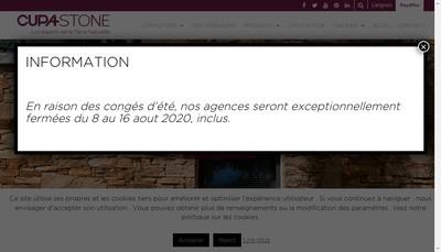 Site internet de Cupa Pierres Distribution