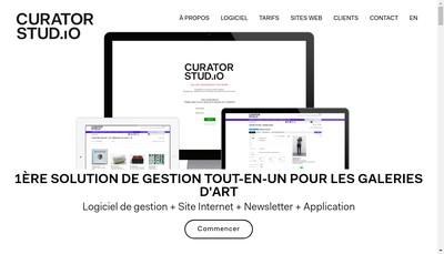 Site internet de Curator Studio