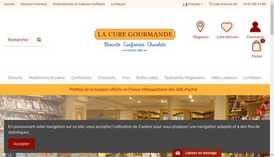 Site internet de La Cure Gourmande