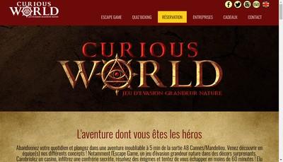 Site internet de Curious World