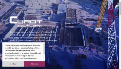 Site internet de Curot Construction